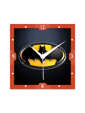 Multicolor Engineered Wood Black And Yellow Batman Wall Clock - By