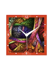 Multicolor Engineered Wood Colorful Designs Wall Clock - By