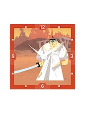 Multicolor Engineered Wood The Samurai Wall Clock - By