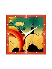 Multicolor Engineered Wood Beautiful Signs Wall Clock - By