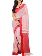 Pink Cotton Handloom Saree -  online shopping for Sarees