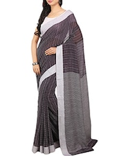 Black Cotton Handloom Saree -  online shopping for Sarees
