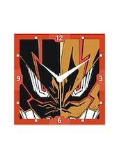 Multicolor Engineered Wood Angry Face Wall Clock - By