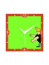 Multicolor Engineered Wood Jonny Bravo Green Wall Clock - By