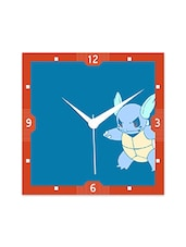 Multicolor Engineered Wood Cartoon Turtle Wall Clock - By
