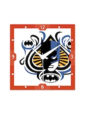 Multicolor Engineered Wood  Batman Looks Wall Clock - By