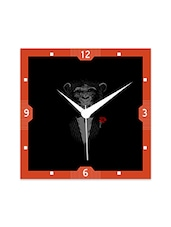 Multicolor Engineered Wood Bad Monkey Wall Clock - By