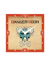Multicolor Engineered Wood Danger Room Wall Clock - By