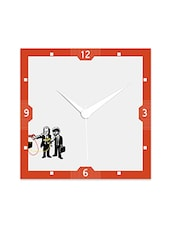 Multicolor Engineered Wood Pulp Fiction Wall Clock - By