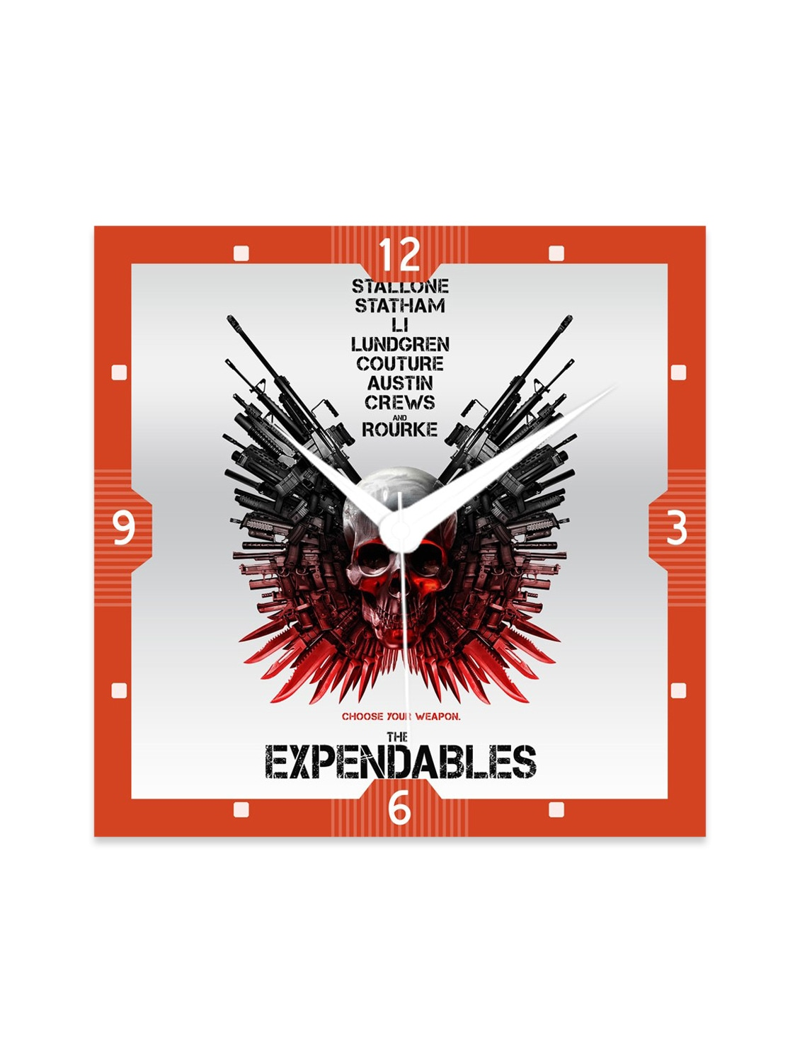 Multicolour Engineered Wood The Expendables Wall Clock - By
