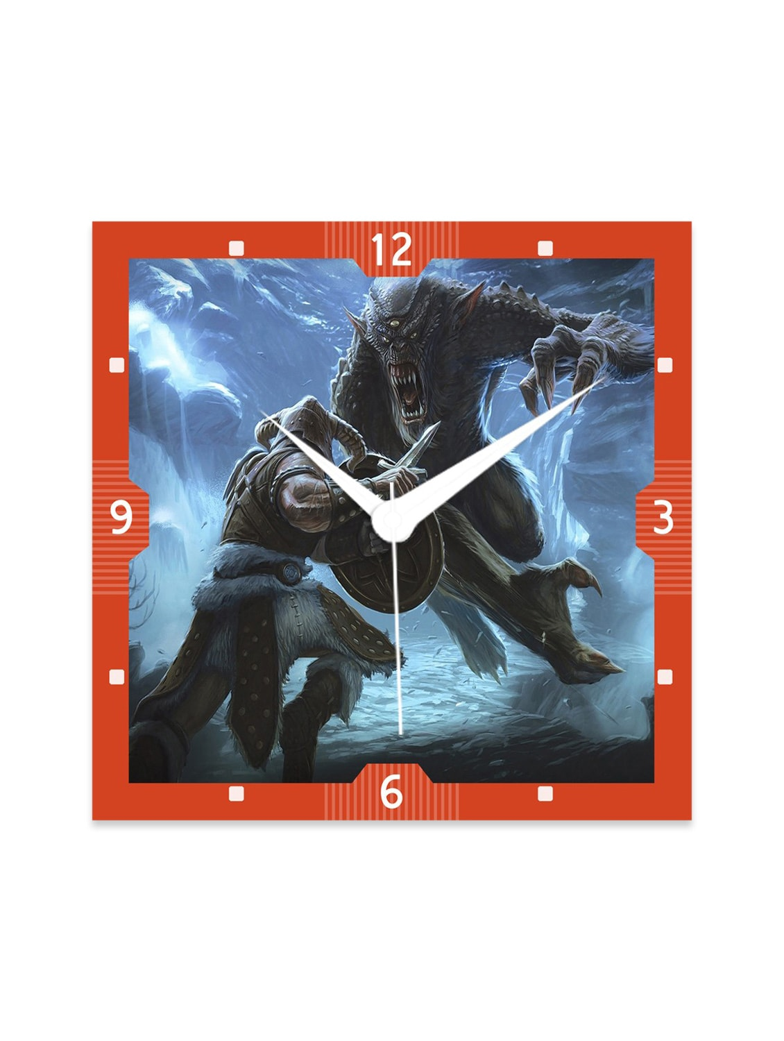 Multicolour Engineered Wood The Skyrim Wall Clock - By