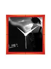Naruto And Sasuke Black And White Detailed Wall  Clock - By