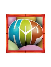 Hop Coloured Balls Detailed Wall  Clock - By