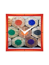 Colors Pencil Detailed Wall  Clock - By