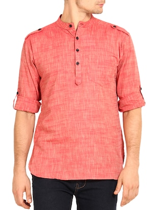 red cotton kurta -  online shopping for Kurtas