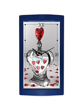 Red Diamond Heart Detailed Wall Clock - By