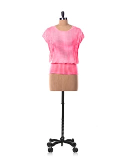 Neon Pink Top With Attached Pink Slip - Chemistry
