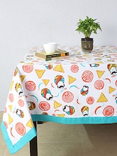 House This Chatpata Thela 100% Cotton Table Cover - Blue - By