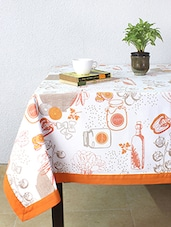 House This Gormet Salad 100% Cotton Table Cover - Orange - By