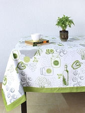 House This Gormet Salad 100% Cotton Table Cover - Green - By