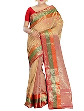 Multicolored Cotton Handwoven Tangail Saree -  online shopping for Sarees
