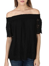 black georgette top -  online shopping for Tops