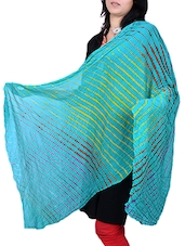 Green Poly Chiffon Leheriya Dupatta - By