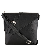black leatherette sling bag -  online shopping for sling bags