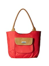 red synthetic leather handbag -  online shopping for handbags