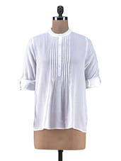 Solid White Cotton Top - By