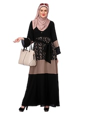 black crepe dress -  online shopping for cloaks & abaya