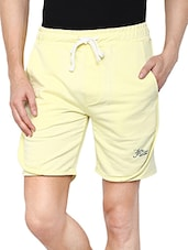 yellow cotton shorts -  online shopping for Shorts