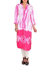 pink rayon straight kurta -  online shopping for kurtas