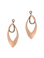 Rose Gold Metal Drop Earring - By
