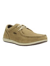 beige rubber lace up shoes -  online shopping for Shoes