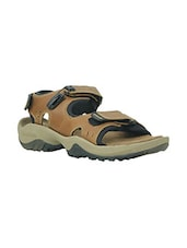 brown leather back strap floaters -  online shopping for Floaters