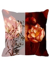 Leaf Designs Sketched Brown Floral Cushion Cover -  online shopping for Cushion Covers