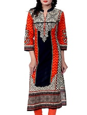 multi cotton straight kurti -  online shopping for kurtis