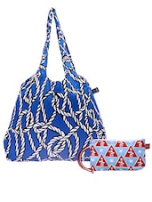 Multicolored Printed Cotton Set Of Bags - By - 1242512