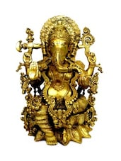 Glorious Statue Of Lord Ganesha Made In Brass - By