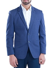 navy blue cotton casual blazer -  online shopping for Casual Blazer