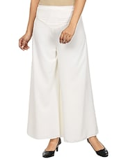 white crepe palazzos -  online shopping for Palazzos
