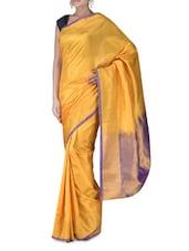 Yellow Uppada Silk Saree - By