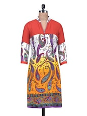 Multicolored Rayon Printed Kurti - By