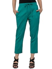 green khadi cotton trouser -  online shopping for Trousers