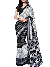 grey georgette saree -  online shopping for Sarees