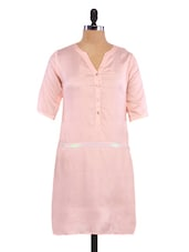 Solid Pink Viscose Dress - By