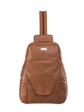 tan leather backpack -  online shopping for Backpacks