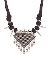 Black Metal Tribal Necklace - By