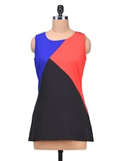 Multicolored Poly Crepe Pin Tuck Top - By
